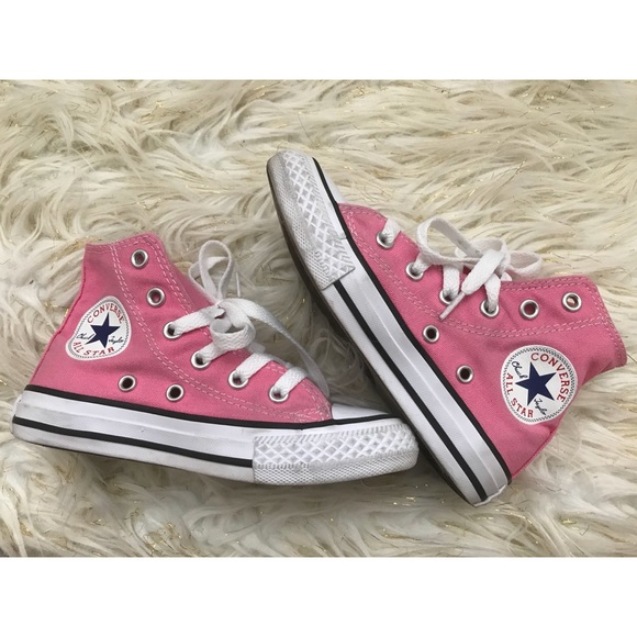 Converse Shoes   Kids Pink High Top